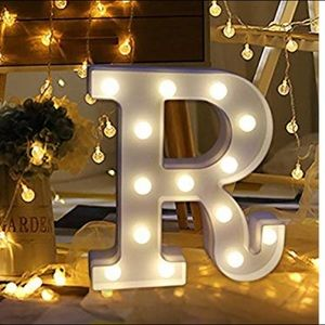 """Other - Light-Up """"R"""" Marquee Letter (8x1.8x8.66)"""